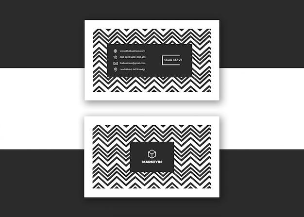 Carte de visite minimaliste colorée créative propre d'entreprise