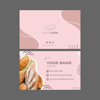 Carte de visite de modèle d'annonce de boulangerie