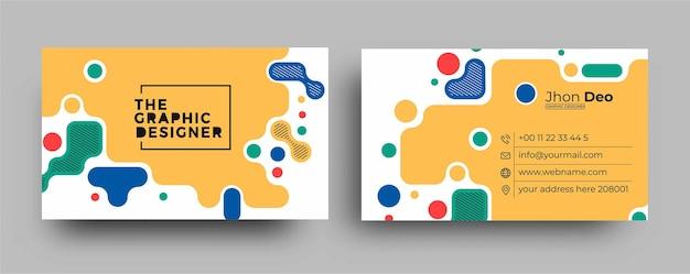 Carte de visite - modèle de carte de visite créatif et propre.