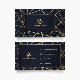 Carte de visite avec modèle de conception de luxe doré