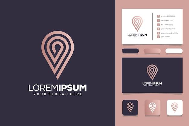 Carte de visite de modèle de logo d'emplacement de monogramme