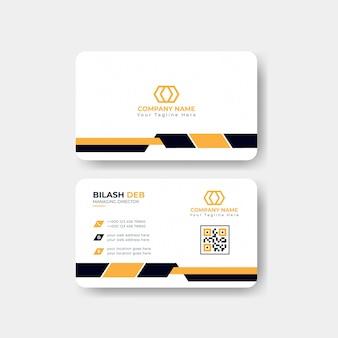 Carte de visite moderne ou carte de visite corporate yellow