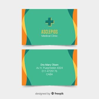 Carte de visite moderne avec concept médical