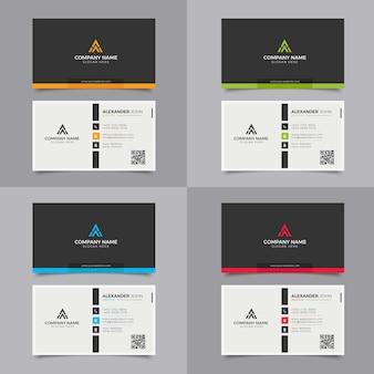Carte de visite moderne noir et jaune corporate professional