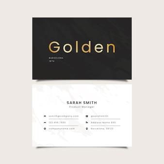 Carte de visite de mot doré