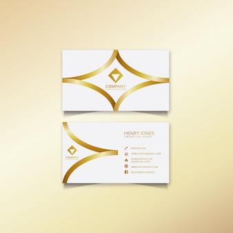 Carte de visite or et blanc