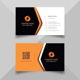Carte de visite orange