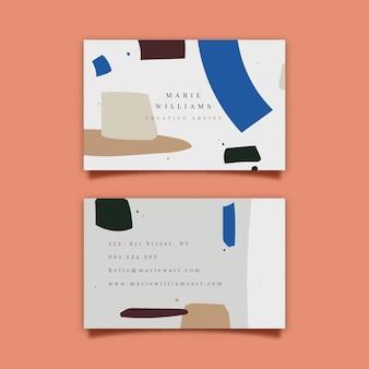 Carte de visite peinte à la main