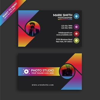 Carte de visite de photographe