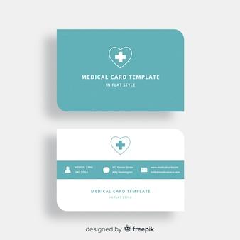 Carte de visite plate avec conception médicale