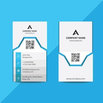 Carte de visite pour entreprise professionnelle au design plat et bleu-gris