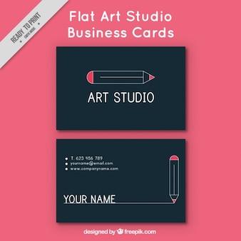 Carte de visite pour studio d'art