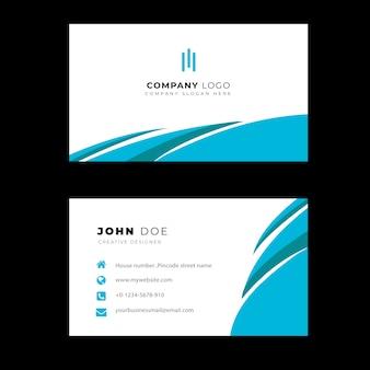 Carte de visite professionnelle bleue élégante et moderne
