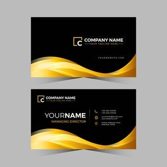 Carte de visite professionnelle de conception de couleur dorée