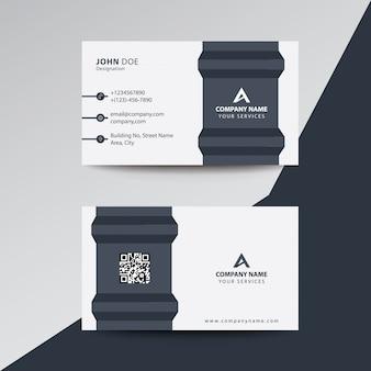 Carte de visite professionnelle de l'entreprise clean flat premium grey fold style