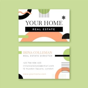 Carte de visite professionnelle de l'immobilier géométrique