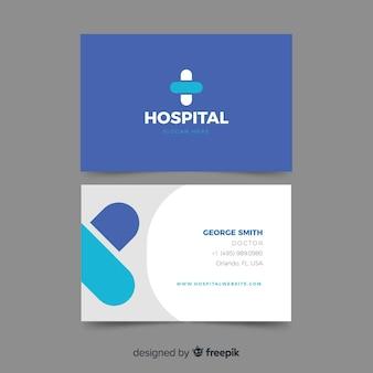 Carte de visite professionnelle pour hôpital ou médecin