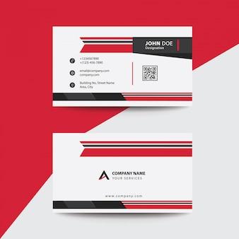 Carte de visite professionnelle et professionnelle haut de gamme clean flat red and black