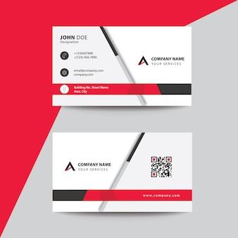 Carte de visite professionnelle de visite minimaliste, de style minimaliste, rouge noir