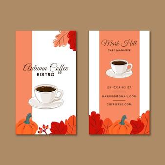 Carte de visite recto-verso de café