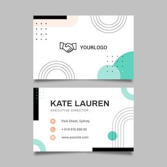 Carte de visite recto-verso de femme d'affaires