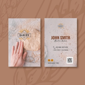 Carte de visite recto-verso pain