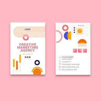 Carte de visite recto-verso pour entreprise de marketing