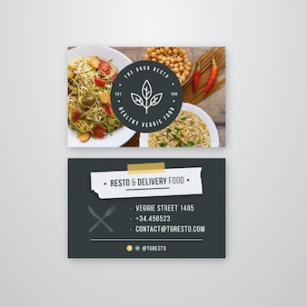 Carte de visite recto-verso pour restaurant