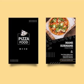 Carte de visite recto-verso de restaurant de pizza
