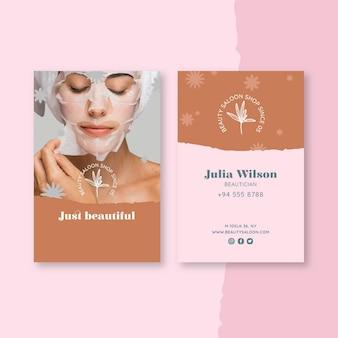 Carte de visite de salon de beauté et de santé