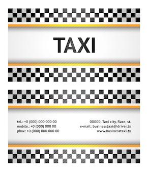 Carte de visite - taxi, modèle vectoriel 10eps
