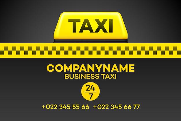 Carte de visite de taxi.