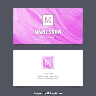 Carte de visite avec texture de marbre