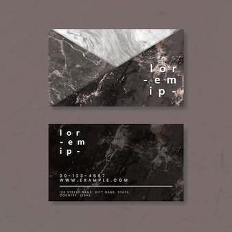 Carte de visite texture marbre
