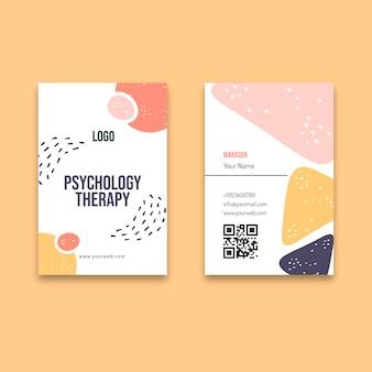 Carte de visite de thérapie de psychologie