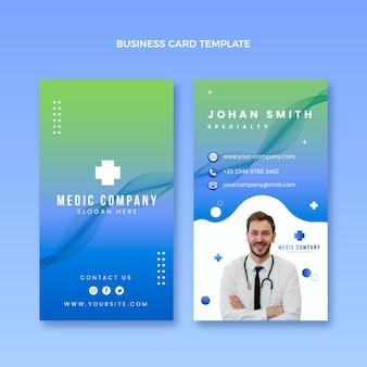 Carte de visite verticale médicale dégradée