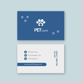 Carte de visite vétérinaire recto-verso