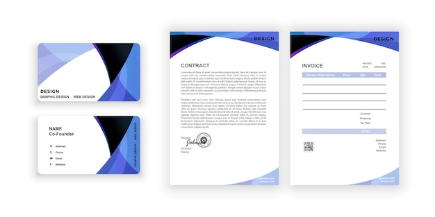 Carte de visite et vierge conception colorée simple modèle de conception de document pour entreprise de bureau