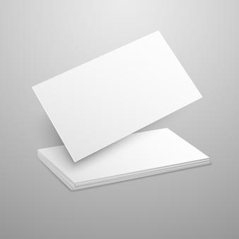 Carte de visite vierge sur gris