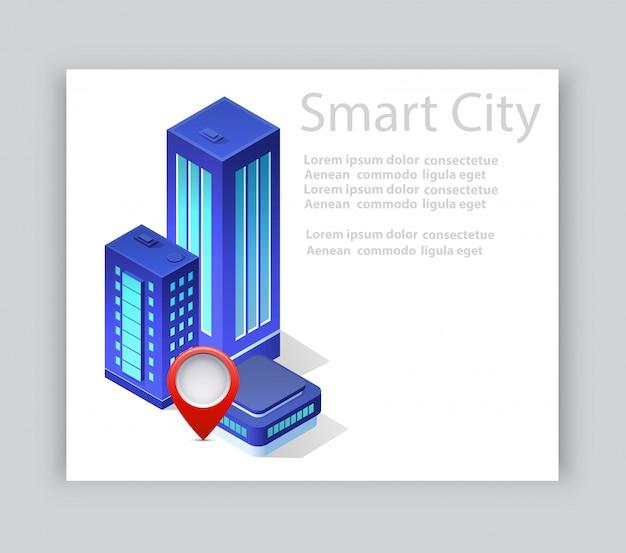 Carte de visite ville isométrique