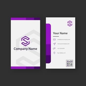 Carte de visite violette propre et créative
