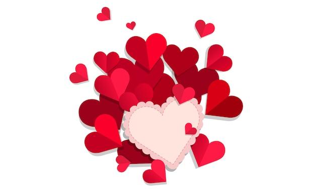 Carte de voeux d'amour