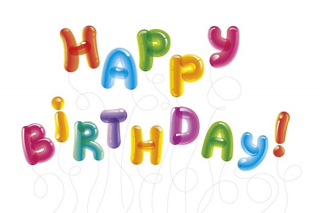 Carte de voeux ballon joyeux anniversaire.