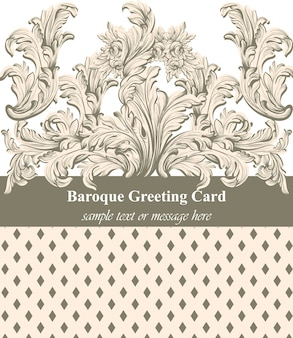 Carte de voeux baroque vintage
