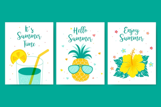 Carte de voeux de bel été