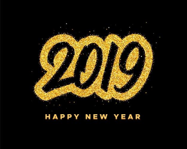 Carte de voeux de bonne année 2019