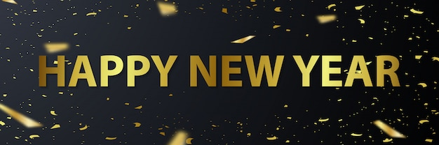 Carte de voeux de bonne année 2020 avec illustration de la police d'or