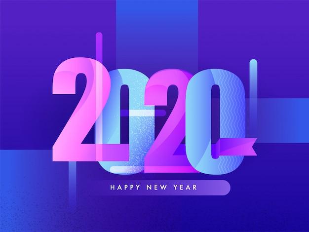 Carte de voeux de bonne année 2020.