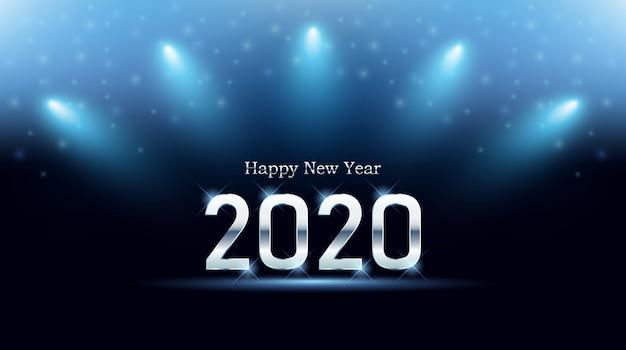 Carte de voeux de bonne année 2020