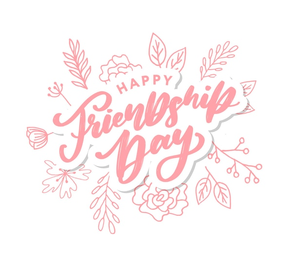Carte de voeux de bonne fête de l'amitié